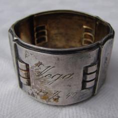 Suport din alpacca pentru servetele, marcat Hoka, din anul 1949 - Argint, Ornamentale