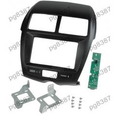 Rama adaptoare Mitsubishi ASX, Mitsubishi Outlander Sport, negru, 2 DIN, cu modulul electronic inclus