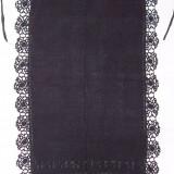 CATRINTA, costum popular femei, anii 1900, din bumbac cu matase, cu model din matase, dantela matasoasa, culoare negru, zona Ardeal / Transilvania Alba - Costum populare, Marime: Marime universala