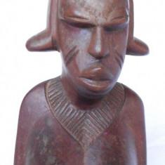 NUD SCULPTURA FEMEIE AFRICANA, BUST, NUD 23CM sculptura lemn nobil Africana - Arta din Africa