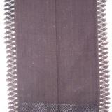 CATRINTA, costum popular femei, anii 1900, din bumbac, cu model din matase si dantela, culoare negru, zona Ardeal / Transilvania Alba - Costum populare, Marime: Marime universala