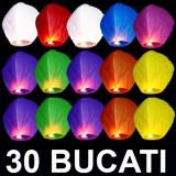 Cumpara ieftin SET 30 LAMPIOANE ZBURATOARE SKY LANTERNS PT.EVENIMENTE SPECIALE DIN VIATA DVS. LAMPIOANE ZBURATOARE.