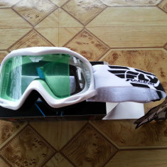 Ochelari Protectie Junior Enduro/Cross/ATV FLY RACING FOCUS ALBI