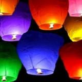 LAMPIOANE ZBURATOARE SPECIALE PENTRU EVENIMENTE UNICE DIN VIATA DVS., LAMPIOANE ZBURATOARE SKY LANTERN.