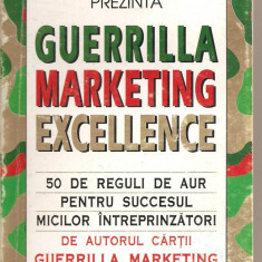 (C3340) GUERRILLA MARKETING EXCELLENCE DE JAY CONRAD LEVINSON, 1996 - Carte afaceri