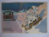AFIS DE CIRCULATIE PE CARTON PENTRU SCOLARI DIN ANII 70