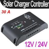REGULATOR SOLAR CONTROLLER solar. Regulator de incarcare panouri solare FOTOVOLTAICE 12v/24v -30A.