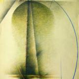 "Aurel Acasandrei, ""Coloana de acoperis"" - Pictor roman, Nonfigurativ, Abstract"