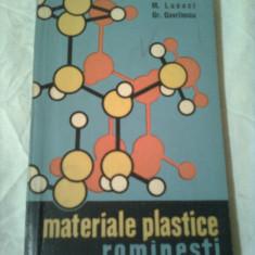 MATERIALE PLASTICE ROMANESTI  ~ M.LUCACI &G. GAVRILESCU