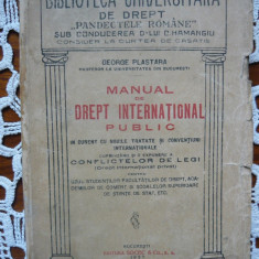 George Plastara - Manual de Drept International Public - 1927 - Carte Drept international