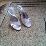 Sandale dama albi marimea 39