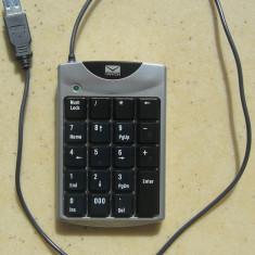 Tastatura numerica CANYON , 19 taste , interfata USB , defecta, Cu fir
