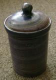 Recipient / cutie depozitare - faina / zahar / condimente - ceramica - West Germany