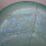 Fructiera veche din sticla irizata - Arta din Sticla