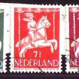 1946-Olanda Mi.472-476, stampilat