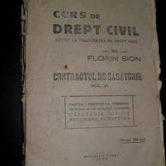 Curs de drept civil, Florin Sion (contractul de casatorie) vol VI - Carte Drept procesual civil