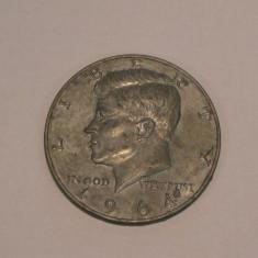 PLACHETA HALF DOLLAR 1964 SUA
