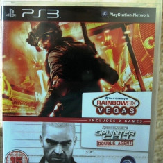 Joc Tom Clancy's (Rainbow Six vegas + Splinter Cell Double Agent), PS3, nou! - Jocuri PS3 Ubisoft, Shooting, 16+, Single player