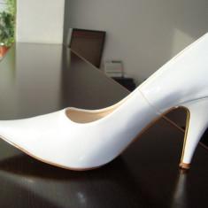PANTOFI MIREASA - Pantof dama, Culoare: Alb, Marime: 40, Alb