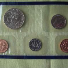 Set Monetarie USA 1999 - 5 Monede UNC, America de Nord
