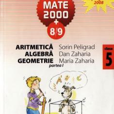 MATE 2000 8/9 - ARITMETICA, ALGEBRA, GEOMETRIE PARTEA I CLASA A V A de SORIN PELIGRAD ED. PARALELA 45 - Manual scolar paralela 45, Clasa 5