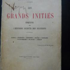 LES GRANDS INITIES Edouard Schure - Carte Literatura Franceza