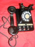 TELEFON CLASIC cu DISC din EBONITA,TEL. EPOCA,COLECTIE ,TELEFON SPECIALT  BACHELITA tip CENTRALA cu apel RAPID ,telefon BIROU  IMPORTANT al RPR si RSR