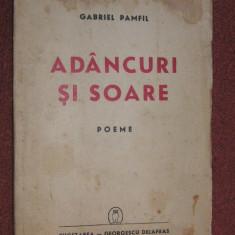 Gabriel Pamfil - Adancuri şi soare - Poeme - cu gravuri de Vasile Dobrian, 1941