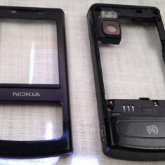 CARCASA TELEFON MOBIL NOKIA 6500 SLIDE NEGRU SPATE - FATA MYMO piesa de schimb service GSM
