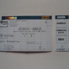 Bilet meci fotbal AUSTRIA - ROMANIA 01.04.2009