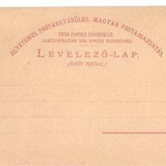 CPI (B2356) UNGARIA. CARTE POSTALA, TIMBRU IMPRIMAT, NECIRCULATA, LEVELEZO-LAP, ~ 1900, Printata