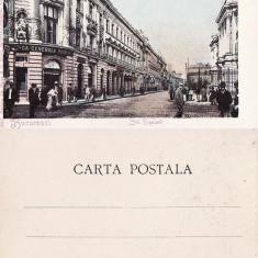 Bucuresti - Strada Lipscani - clasica, animata