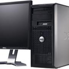 Vand - Sisteme desktop cu monitor Dell, Intel Core 2 Duo, 2 GB
