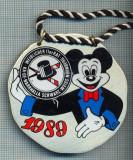 C558 Medalie - Scoala de majorete -NARRHALLA Schwarz-Weiss -Nurnberg - Germania -Mikey Mouse, desene animate -starea care se vede