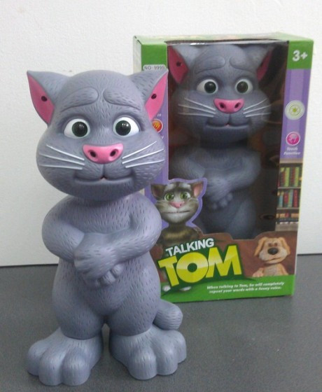 Talking TOM CAT jucarie Motanul vorbaret rectioneaza la atingeri . jucarie inteligenta .pisica vorbitoare Tom Mare ! foto mare