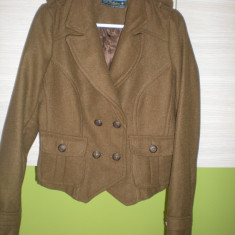 Jacheta (palton) Zara - Jacheta dama Zara, Culoare: Maro