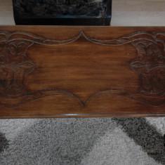 Masuta lemn masiv, sculptata manual. - Masa living