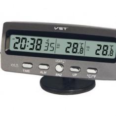 Ceas Cu Termometru Interior Exterior Pentru Masina Sau Acasa - Termometru Auto