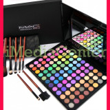 Trusa machiaj profesionala 96 culori MAC farduri mate sidefate + Set 7 pensule - Trusa make up Mac Cosmetics