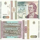 ROMANIA 1.000 Lei 1993 - aUNC !!! - Bancnota romaneasca