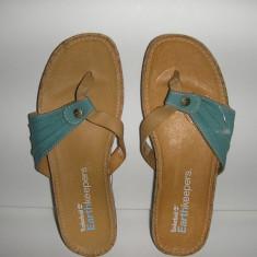 Papuci /Sandale TIMBERLAND Earth Keepers originali noi piele+tesut 37 - Sandale dama Timberland, Culoare: Bleu, Textil