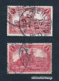 Germania 1900 - Reich - 1Mark - 2 varietati de culoare - Stampila intreaga Berlin 1904