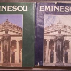 ALBUM BIOGRAFIC - EMINESCU. UN VEAC DE NEMURIRE, 2 VOL. Cu ilustratii color - Roman, Anul publicarii: 1991