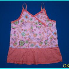IMPECABILA _ Bluza / bluzita de vara, cu bretele, KIDKANAI _ fete | 8 ani, Marime: Alta, Culoare: Roz