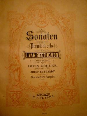BEETHOVEN- partituri originale -PIANOFORTE SOLO -400 PAG. foto