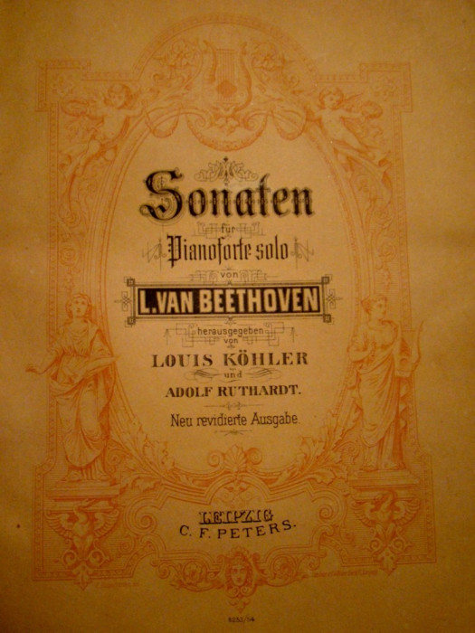 BEETHOVEN- partituri originale -PIANOFORTE SOLO -400 PAG.