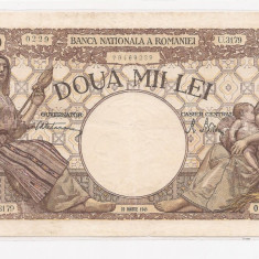 2000 lei 1945 filigran Traian - Bancnota romaneasca