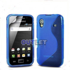Husa ALBASTRA Samsung Galaxy ACE S5830 S + folie ecran + expediere gratuita - Husa Telefon