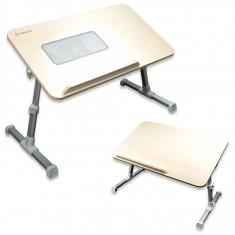 MASA PLIABILA pentru LAPTOP,model 2013, PICIOARE AJUSTABILE - BIROU cu SUPORT E-TABLE si COOLER RACIRE- MASA pentru LAPTOP cu VENTILATOR!