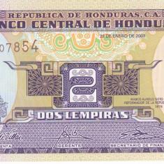 Bancnota Honduras 2 Lempiras 2003 - P80Ad UNC - bancnota america